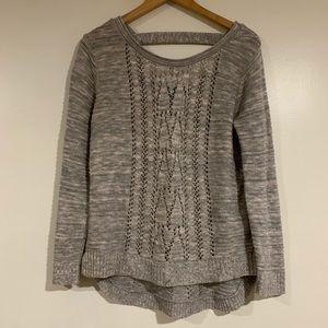 gray knit cute oversized sweater